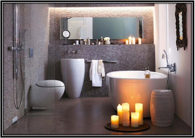Aromatic Candles As A Sign Of Passion Bathroom Decoration Ideas