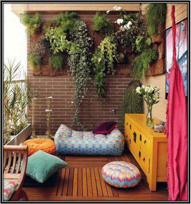 Boho Terrace Area Terrace Decor Ideas