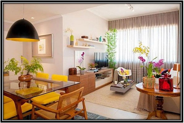 Common Living And Dining Area Living Room Decoration Ideas