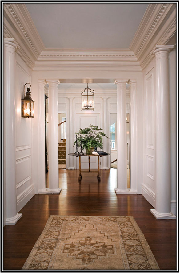 Entrance And Foyer Traditional House Interior Design Ideas