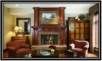 Living Area And Fire Place Traditional House Interior Design Ideas