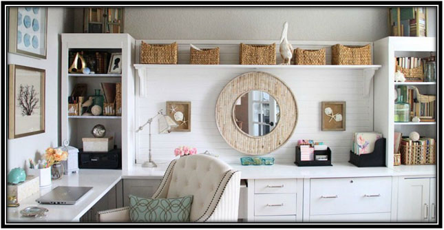 Organized And Pretty Home Spaces Home Office Decoration Ideas