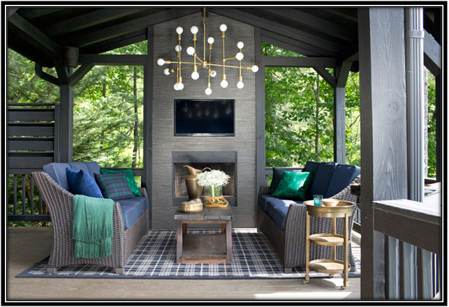 Porch With Grand Interiors Porch Design Ideas