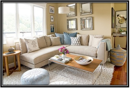 Sofa At The Corner - Home decor ideas
