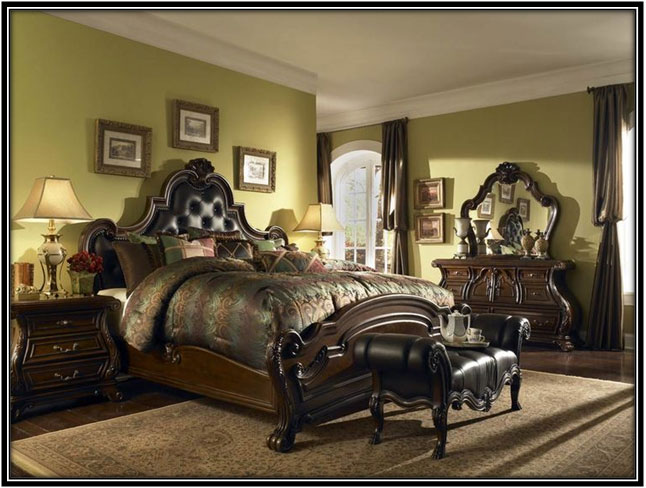 The Bed Room Traditional House Interior Design Ideas