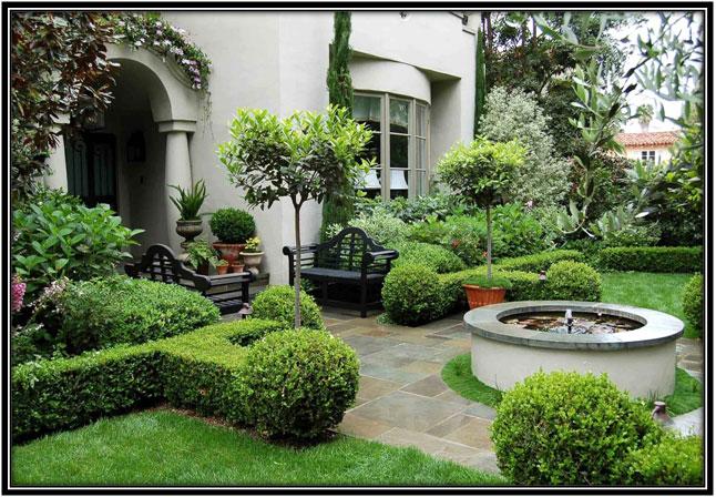 Traditional Front Garden Area Garden Decoration Ideas