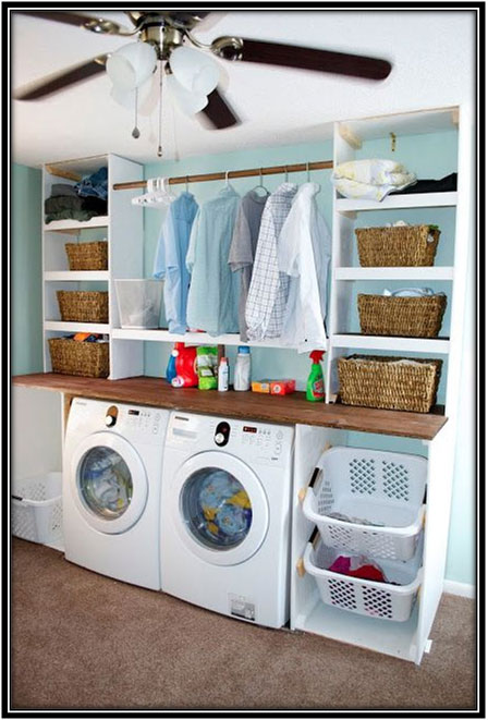A Perfect Space For Laundry Room Decoration Ideas