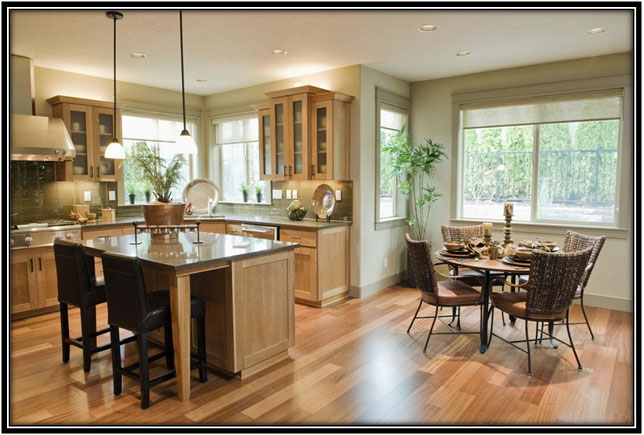 Kitchen And Dining Areas Clubbed Together Home Decor Ideas