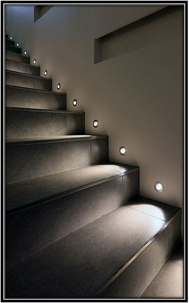 Lights Right Above The Steps Stairs Home Decor Ideas