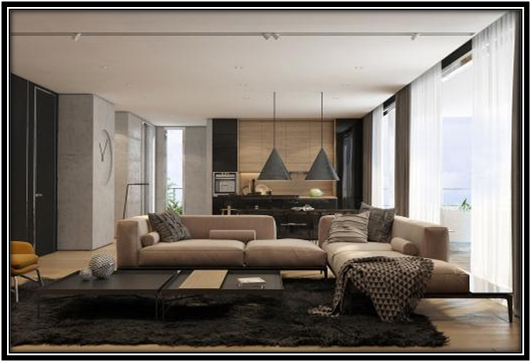Opulent Living Area Interior Decoration Ideas For Small Flat