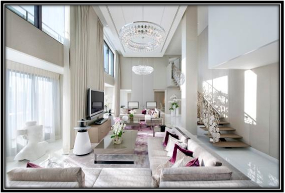 Royal And Luxurious Living Area White House Decoration Ideas
