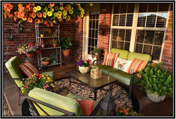 Rustic And Casual Patio Outdoor Decoration Ideas