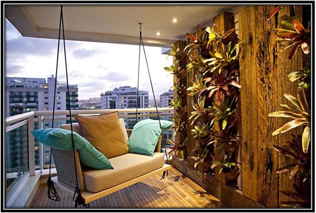 Swing Balcony Decoration Ideas
