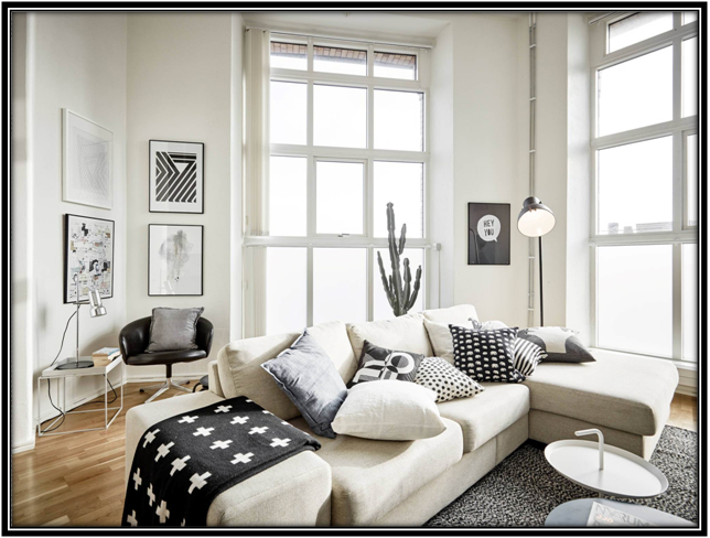 The Classic Combination Of White And Black White House Decoration Ideas