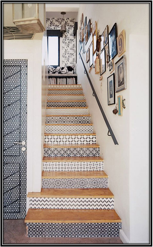 Wallpaper On Stairs Home Decor Ideas