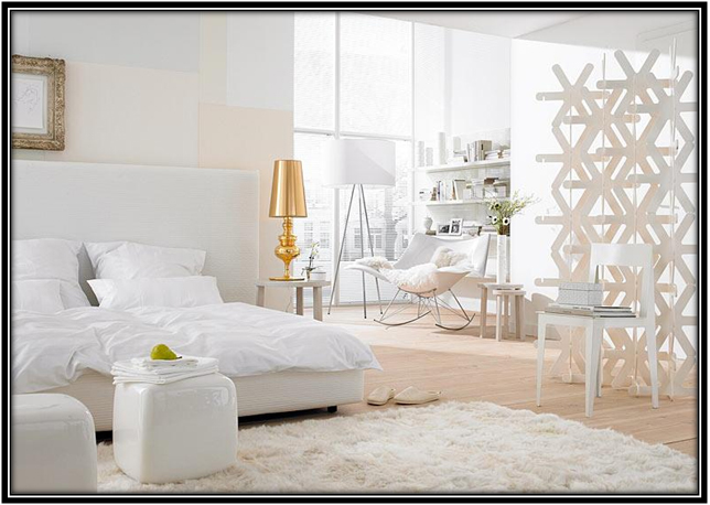 White Bed Room Space White House Decoration Ideas