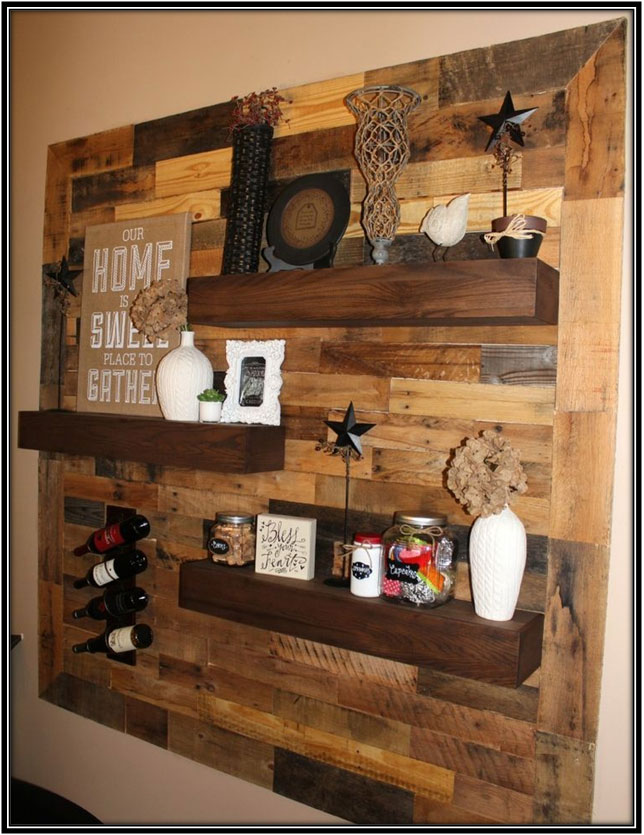 Wood Panel And Shelves Home Decor Ideas