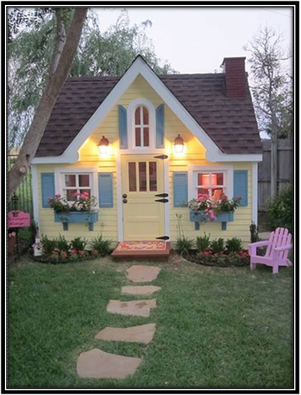 Yellow Home For Your Kid She Sheds Home Decor Ideas