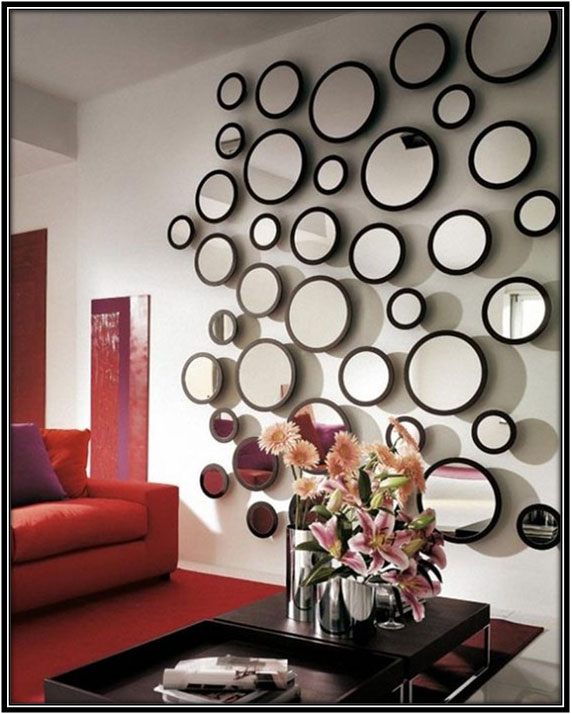 A Collage Of Mirrors Interior Decorating Ideas