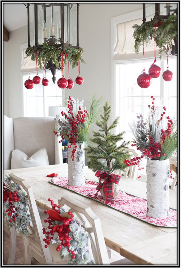 Accentuates For The Dining Room Christmas Decoration