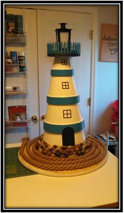 Clay Pot Light House For The Room Interior Decoration Ideas