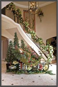 Decor Ideas For Foyer And Stars Christmas Decoration