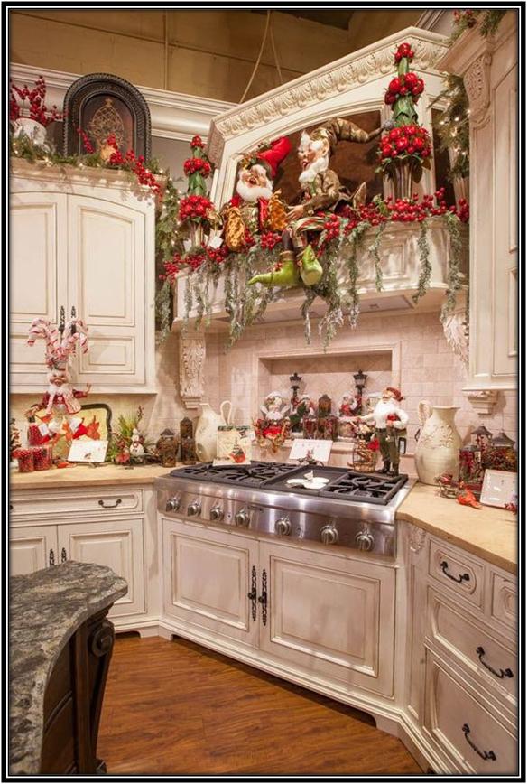 Decor Ideas For The Kitchen Christmas Decoration