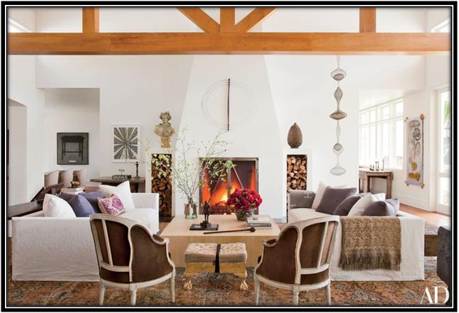 Elegant And Simple Living Room Celebrity House Interior Ideas