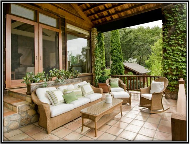Haven Amidst Nature Porch Decoration Ideas
