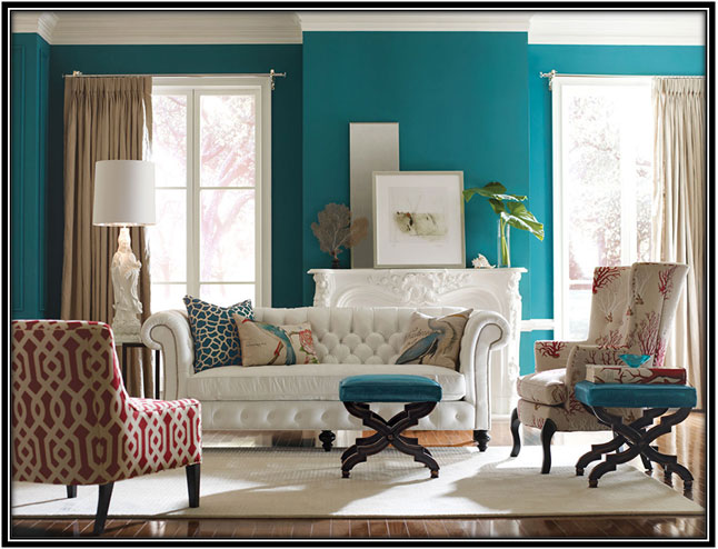 Turquoise The New Black - Home Decor Ideas