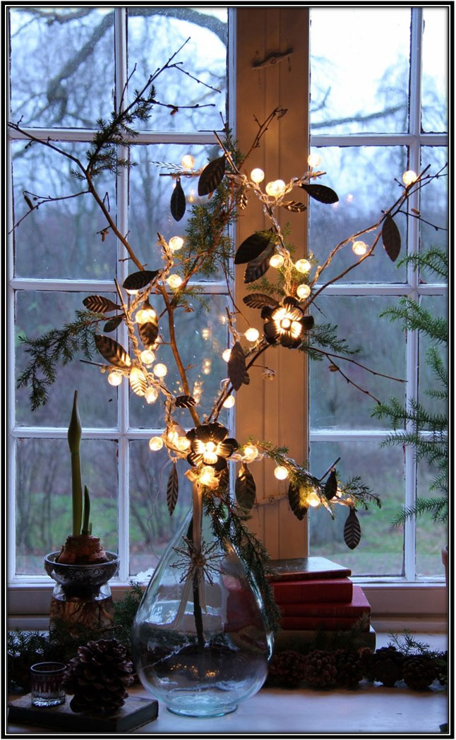 Lights On Centerpieces - Home Decor Ideas