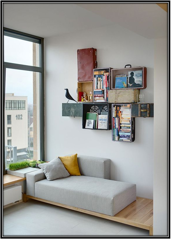 Reading Space Made Out Of Scrap Reading Corner Space Decor Ideas