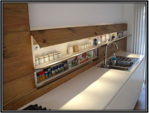 Storage Right Above The Kitchen Platform Home Decor Ideas