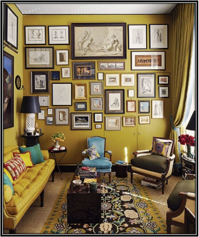 Wall Full Of Frames Living Room Designs