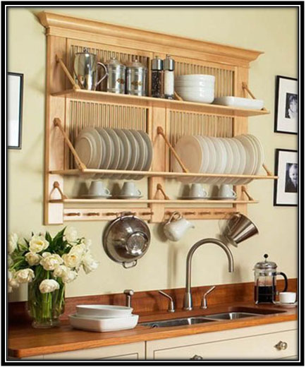 Wooden Open Shelves Right Above The Sink House Kitchen Design Home Decor Ideas