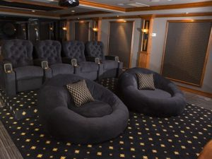 Home Theatre In Basement Modern Basement Ideas
