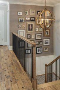Lights And Frames Small Basement Design Ideas