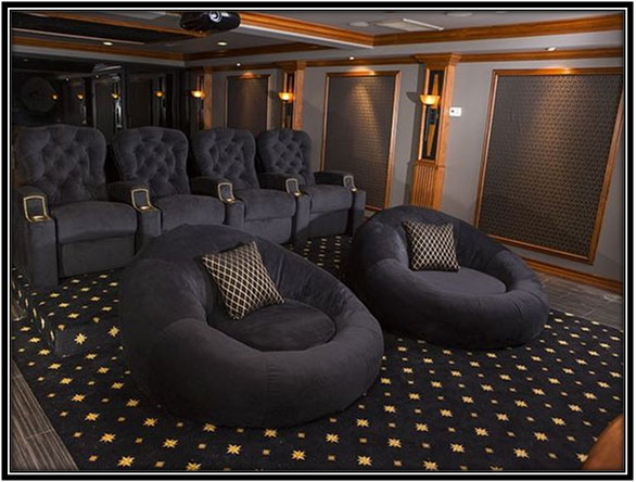 Home Theatre In Basement - Modern Basement Ideas