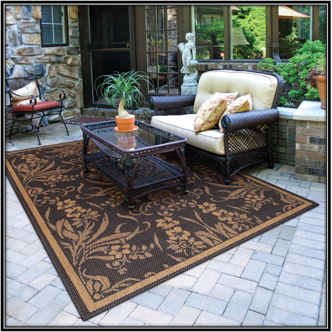 Rugs for outdoor living areas