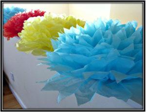Multicolor Summer Design Tissue Paper Flowers
