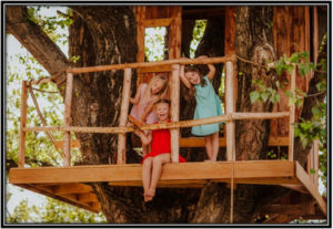 Ensure that all structures, such as slides, or tree houses are on safe height