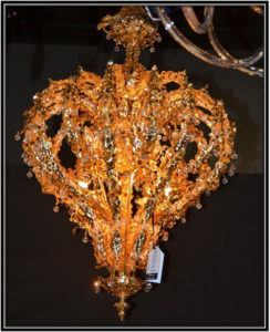 Starting with the history of a chandelier