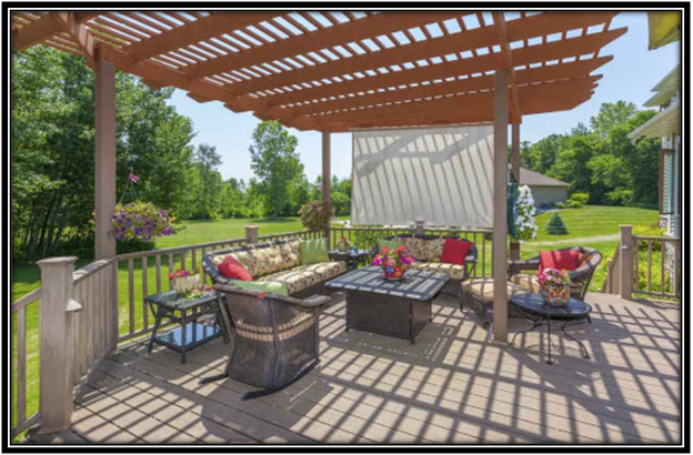 A Pergola Good for Garden Shade