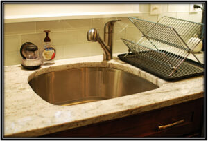 Consider the shape and size of the sink